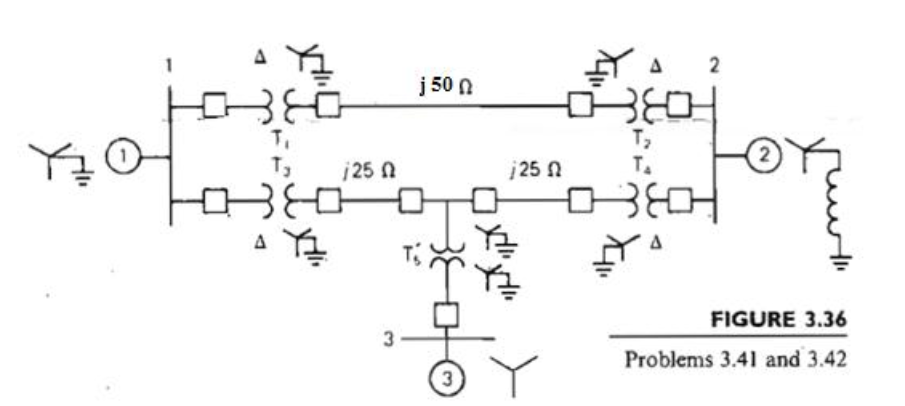 Consider the single-line diagram of the power syst