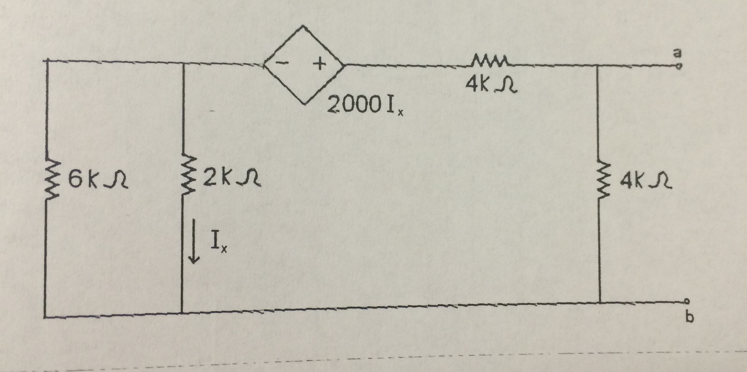 Given the network shown below, determine and draw