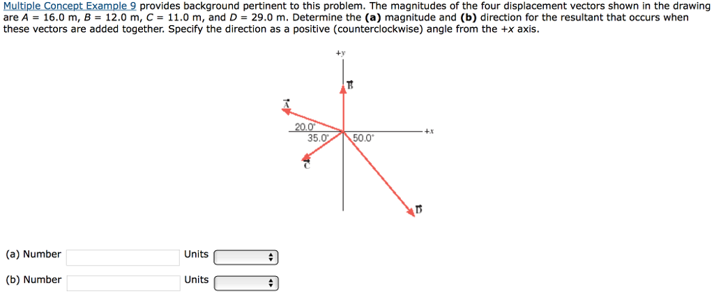 Solved The Magnitudes Of The Four Displacement Vectors Sh