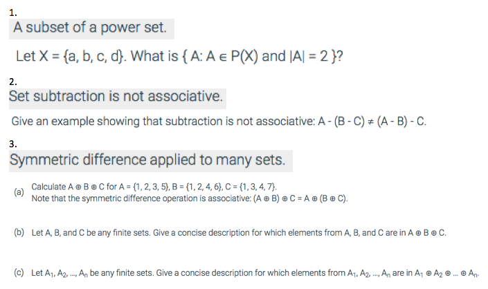 Solved: 1. A Subset Of A Power Set. Let X = {a, B, C, D ...