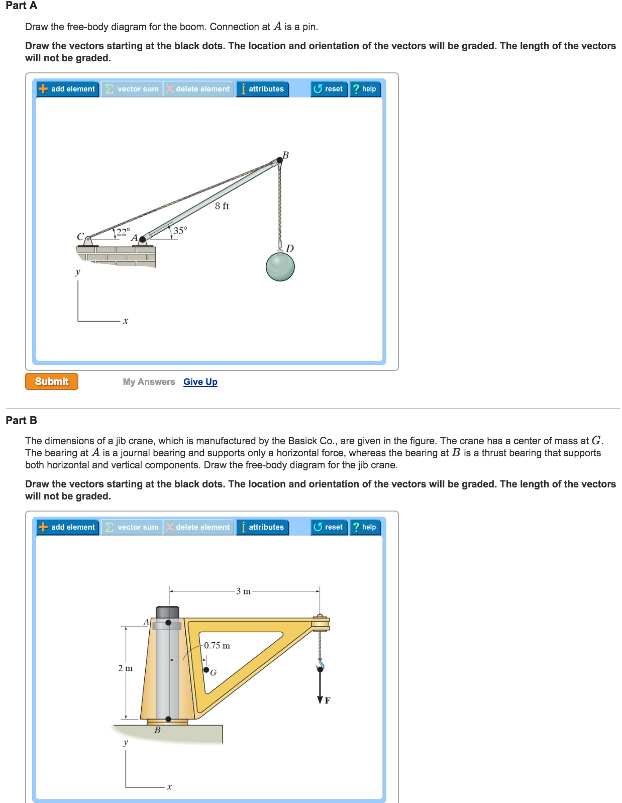 Solved draw the free body diagram for the boom connectio draw the free body diagram for the boom connectio ccuart Choice Image