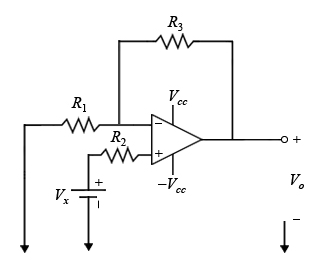 Calculating the output voltage of a noninverting o