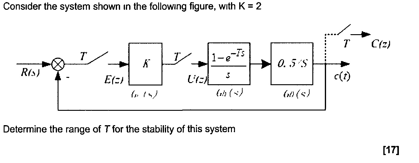Consider the system shown in the following figure,