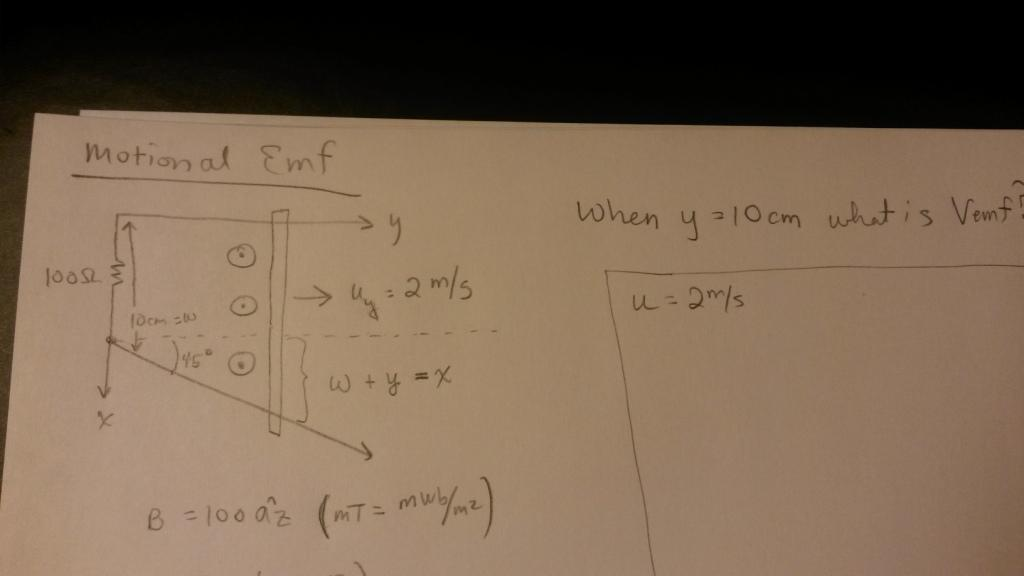 Find the direction of induced voltage and induced