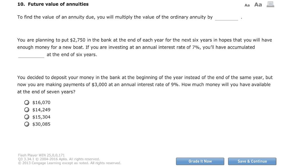 future value annuity