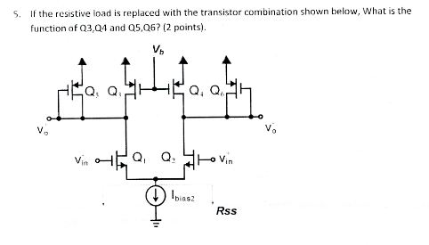 If the resistive load is replaced with the transis
