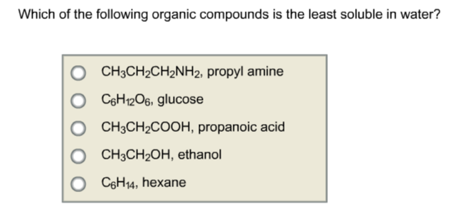 solubility of organic compounds In chemistry, an organic compound is generally any chemical compound that contains carbondue to carbon's ability to catenate (form chains with other carbon atoms), millions of organic compounds are known.