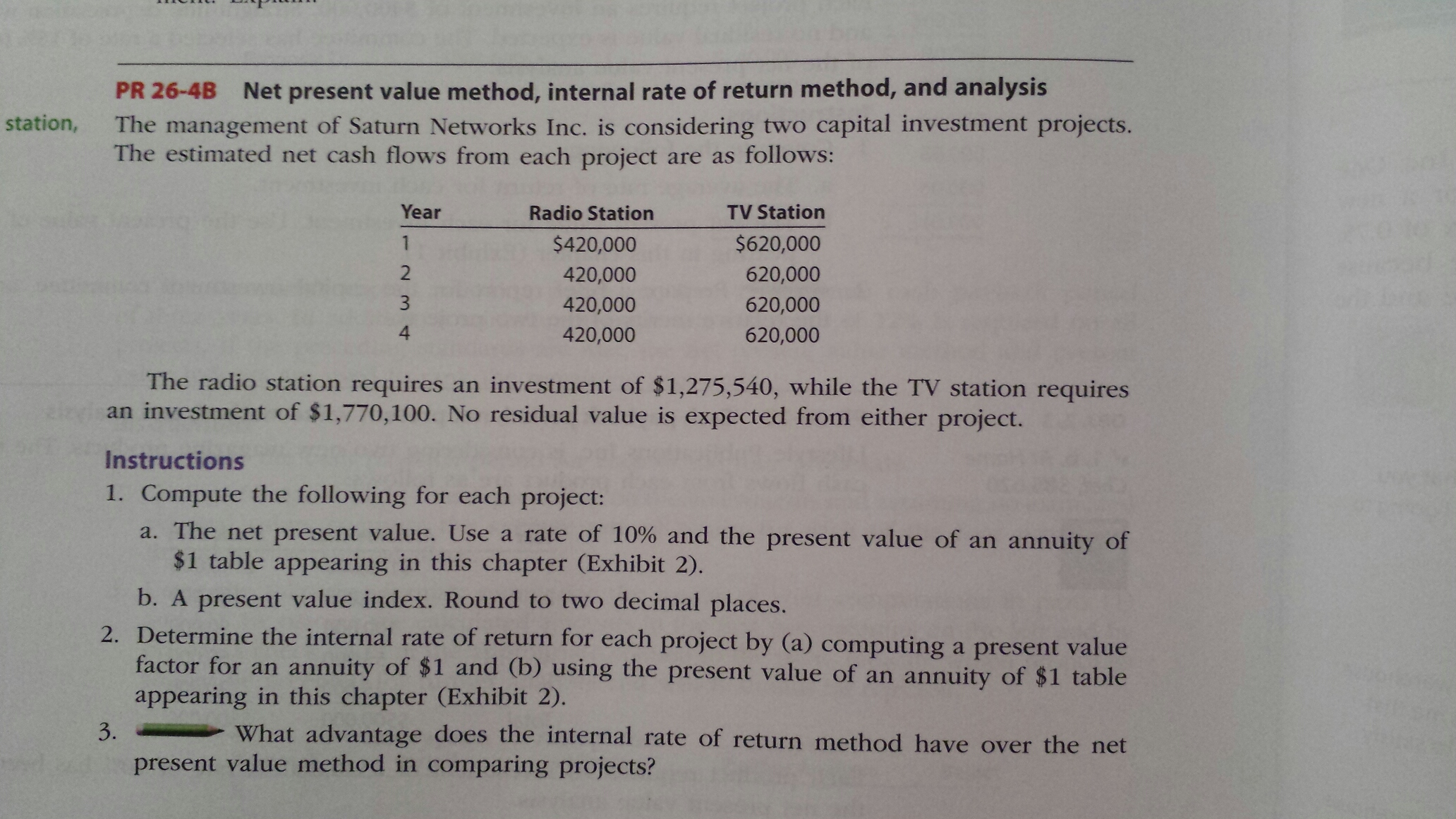 chapter 7 net present value and Purpose: this chapter deals with the practical issues one must know in order to compute the net present value of a project it assumes the social discount rate is.