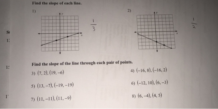 Find the slope of each line find the slope of eac chegg find the slope of each line find the slope of ea ccuart Gallery