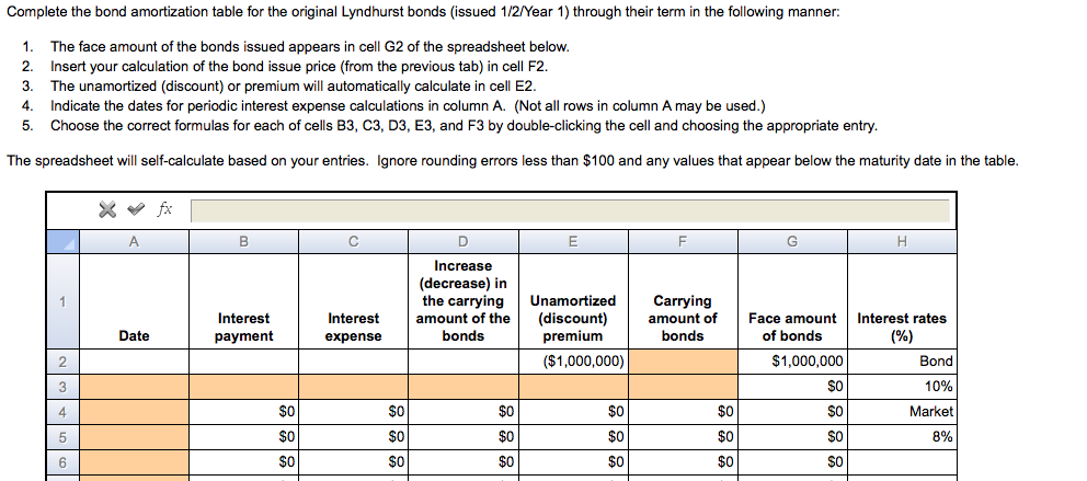 amortization table calculation