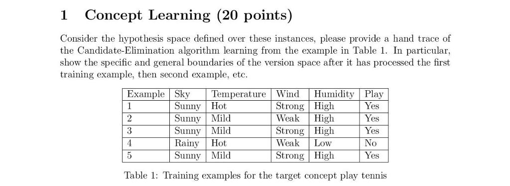 1 Concept Learning (20 Points) Consider The Hypoth...   Chegg.com