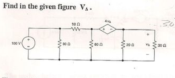 Find in the given figure V Delta.