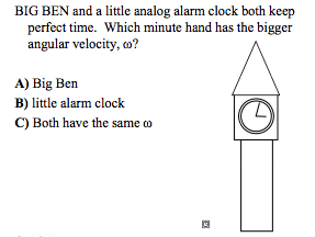 BIG BEN and a little analog alarm clock both keep