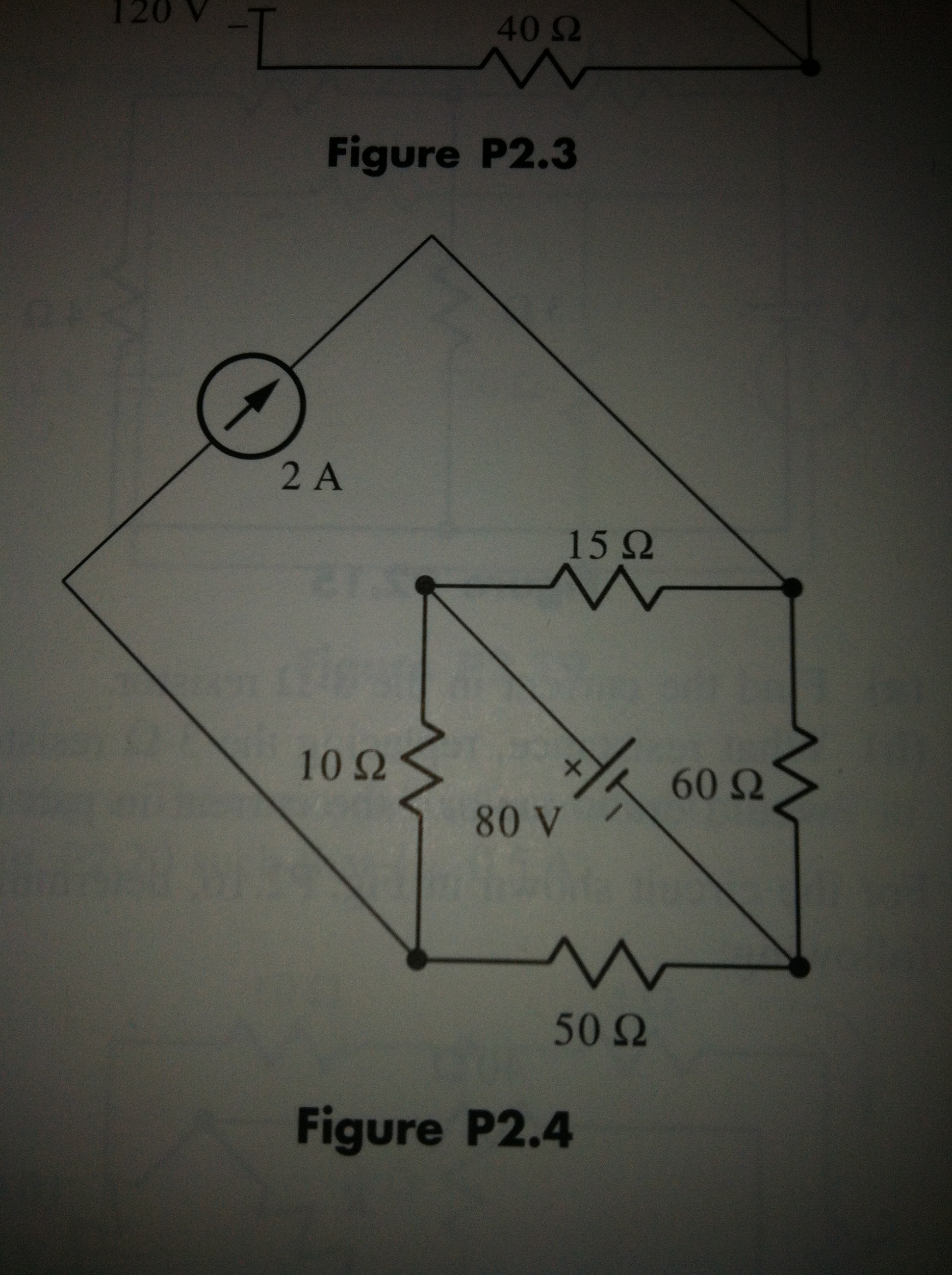 For the circuit shown in Fig. P2.4, determine the