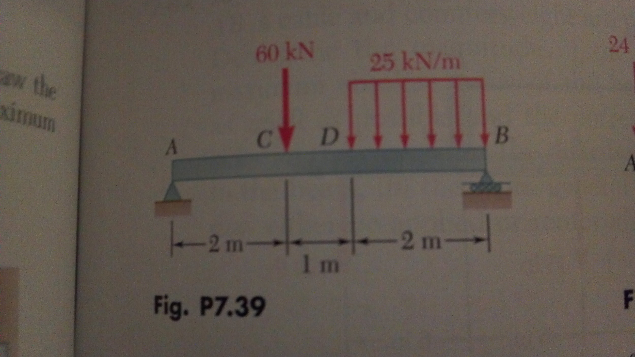 How do I choose beam size from max bending moment and max shear?