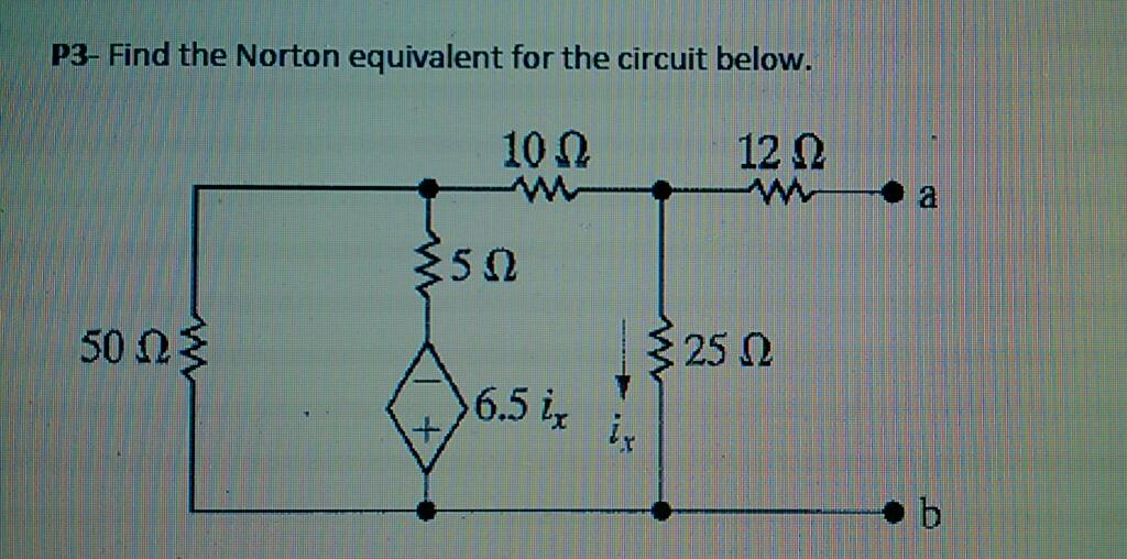 Find the Norton equivalent for the circuit below.