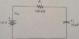 (a) Calculate the time constant for the circuit. (
