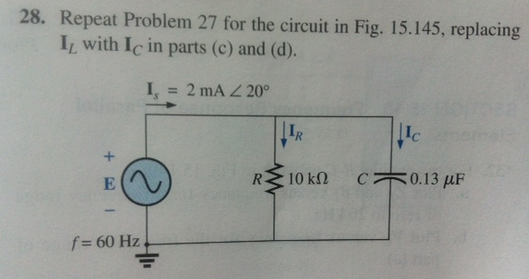 For the circuit in Fig. 15.144: Find the total ad