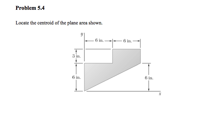 Locate the centroid of the plane area shown.