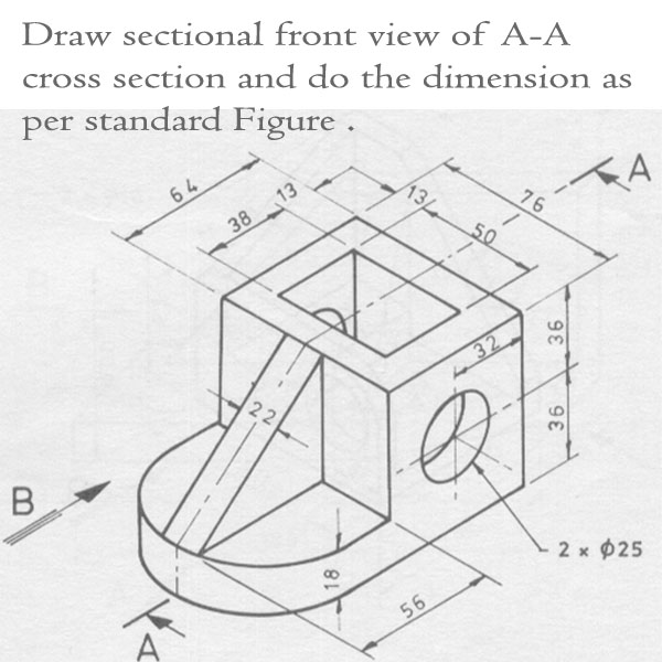 Scribble Drawing Questions : Solved below in figure qi is an isometric drawing of a co