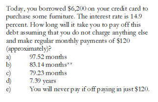 how long pay off credit card