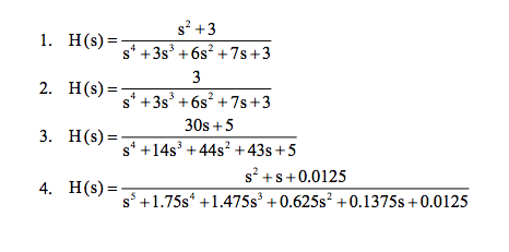Estimate the settling time (4 time constants). Com