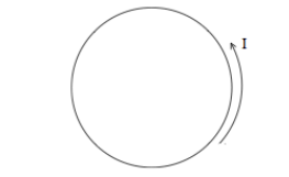 A circular loop is conducting current in a counter
