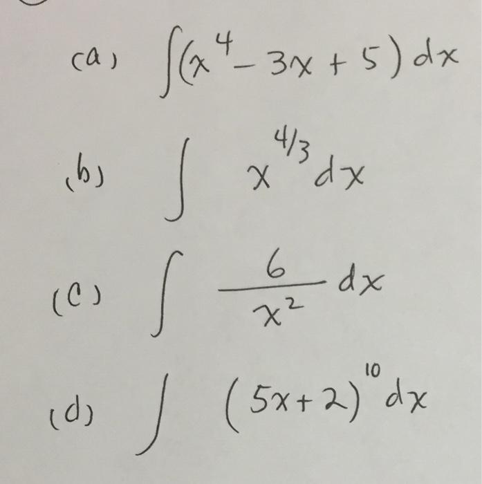 Интеграл 4х 3 7х-2 dx