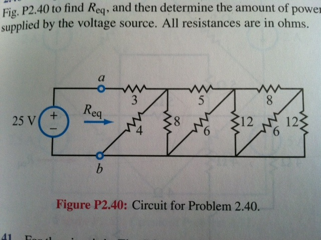 Simplify the circuit to the right of terminals (a,