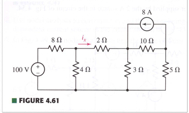 Use mesh analysis to find i? in the circuit shown