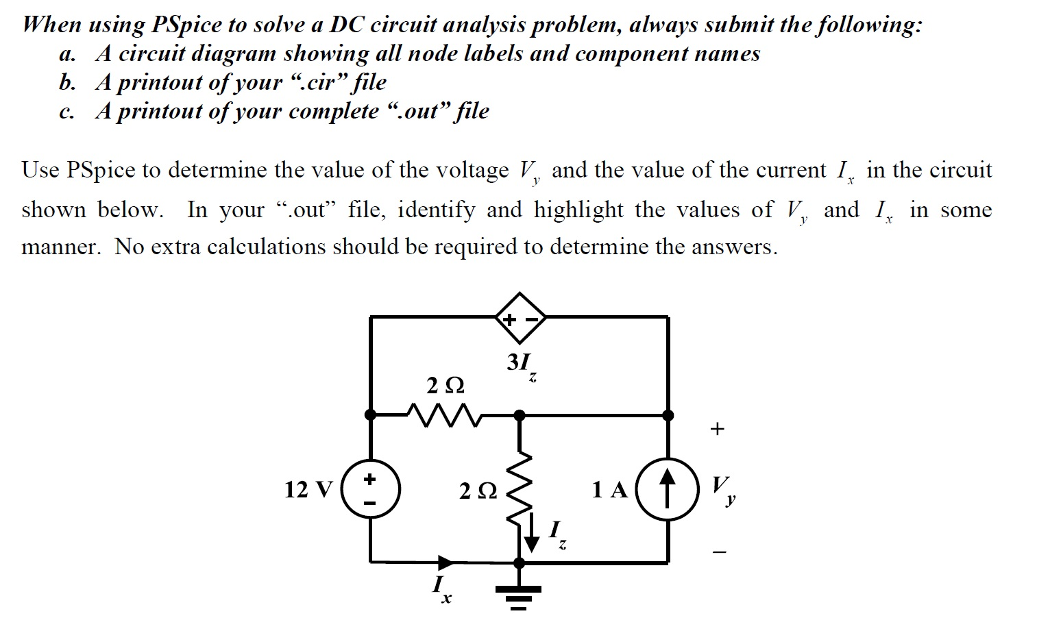 Solved when using pspice to solve a dc circuit analysis p when using pspice to solve a dc circuit analysis p pooptronica Choice Image