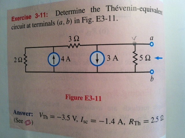 Determine the Thévenin-equivalent circuit at te