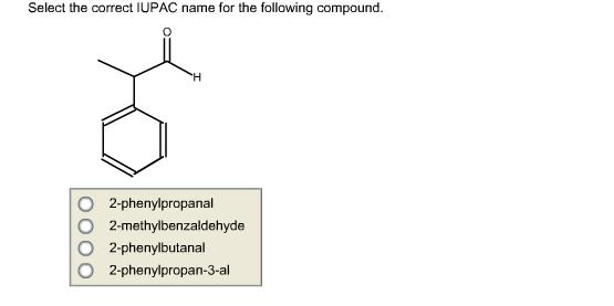 solved  select the correct iupac name for the following co
