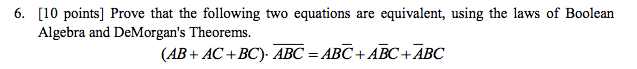Prove that the following two equations are equival