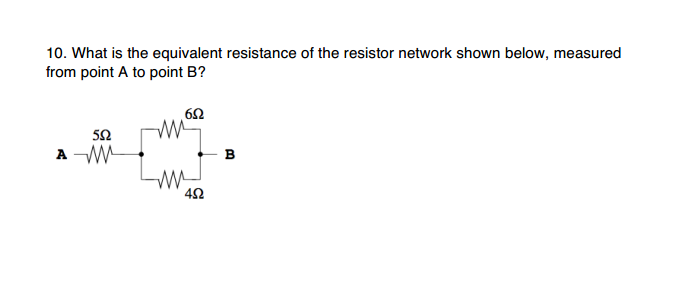 What is the equivalent resistance of the resistor