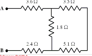 Five resistors areconnected as shown in the diagra