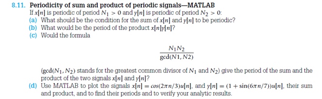 Periodicity of sum and product of periodic signals