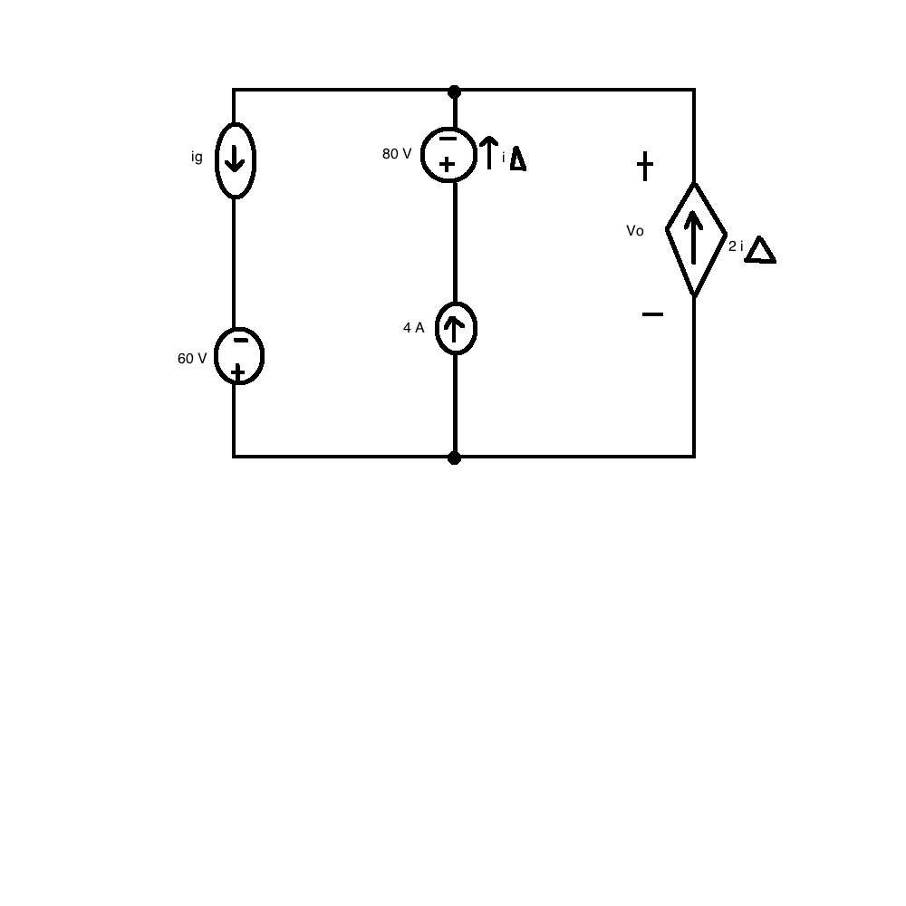 Find the total power developed in the circuit if V