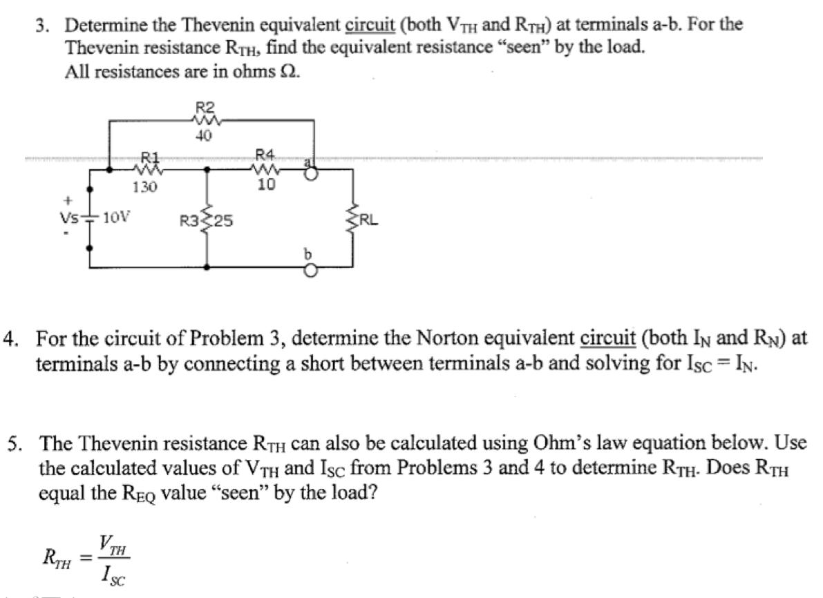 Determine the Thevenin equivalent circuit (both VJ