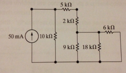 Use the concept od equivalent resistance to simplf
