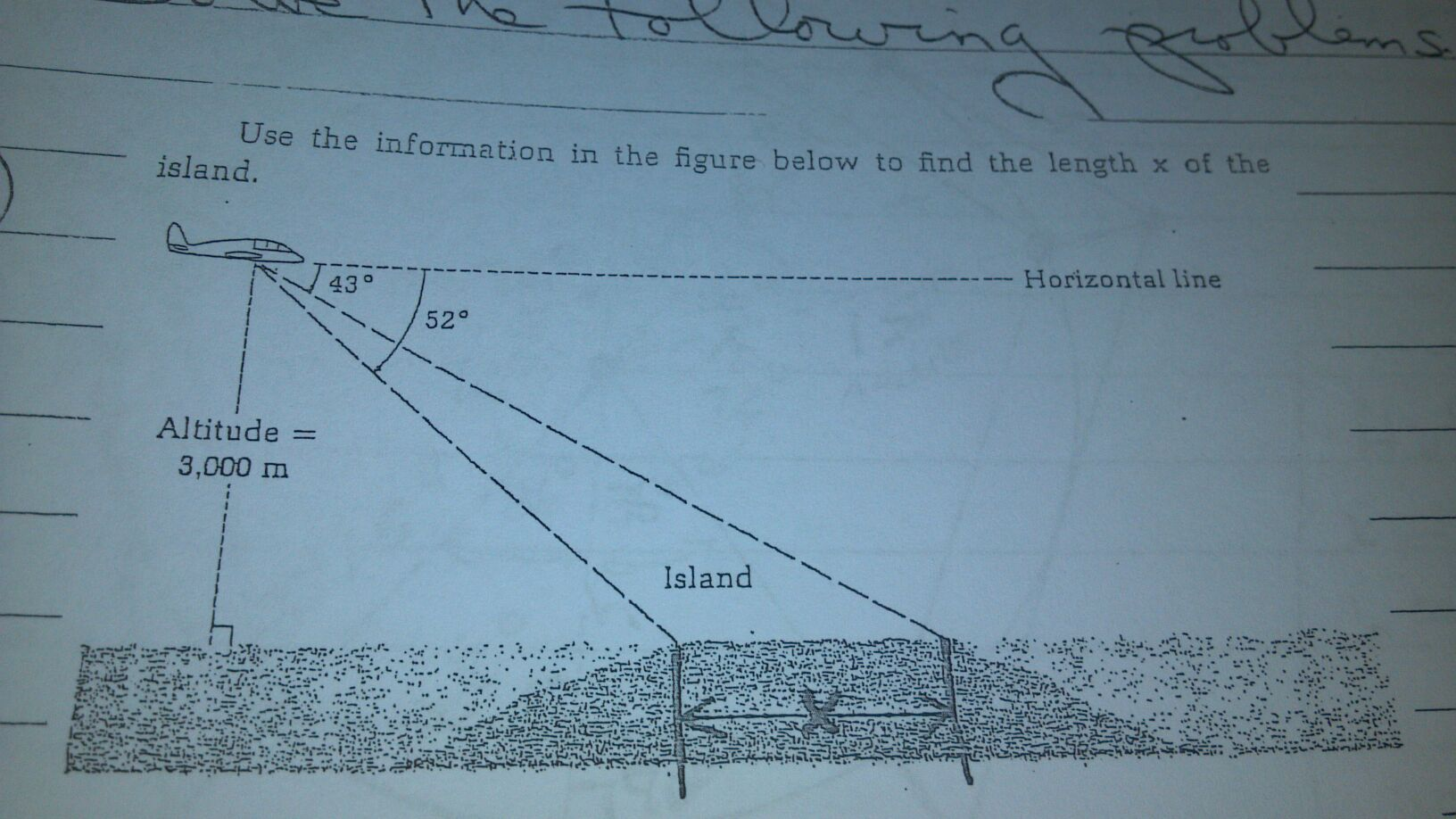Use the information in the figure below to find th