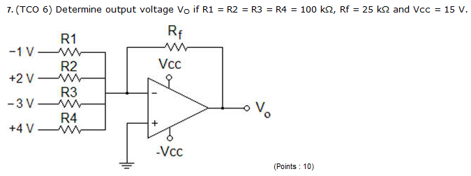 Determine output voltage Vo if R1 = R2 = R3 = R4 =