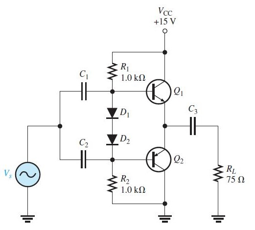 solved  refer to the class ab amplifier in figure 7 u201346 ope