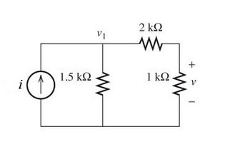 Given that i= 6mA. Findvin the circuit shown in th