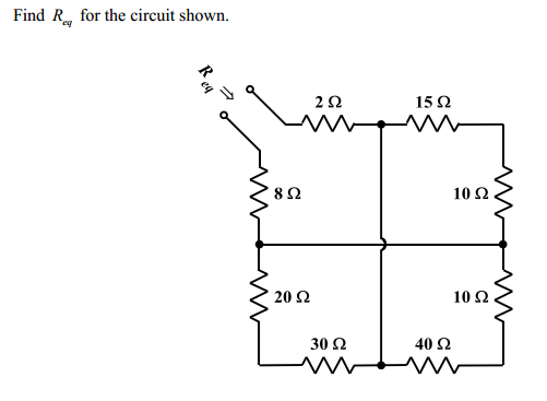 Find Rcq for the circuit shown.