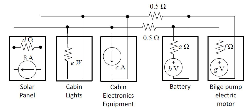 solved  circuit analysis parameters a 0 26   battery inter