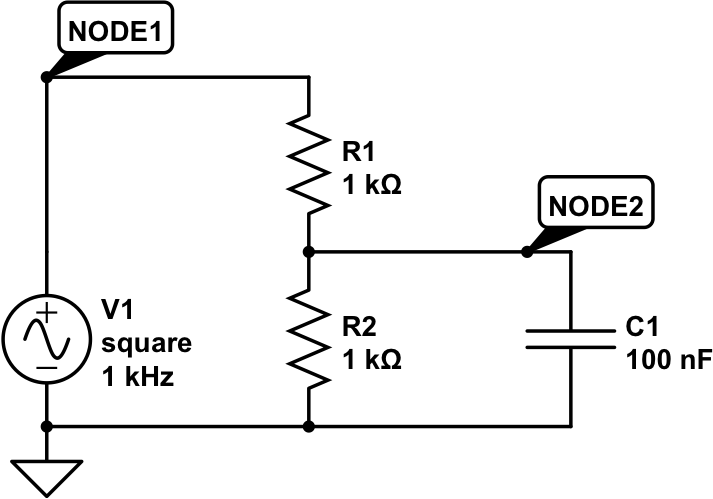 For the circuit shown below, determine (a) the tim