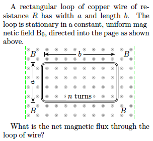 A rectangular loop of copper wire of resistance R