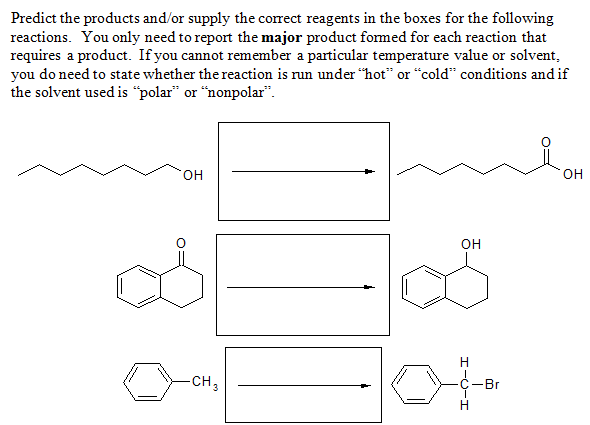 Predict the products and/or supply the correct rea