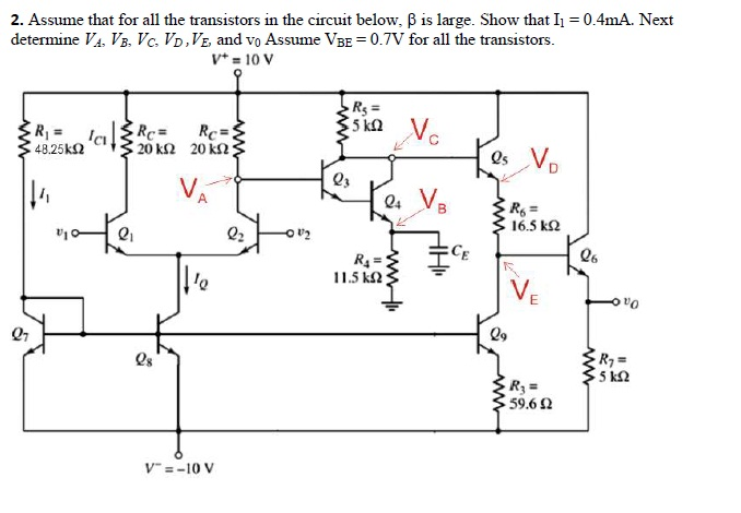 Assume that for all the transistors in the circuit